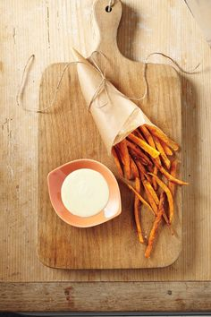 Baked Sweet Potato Fries with Orange Curry Dip