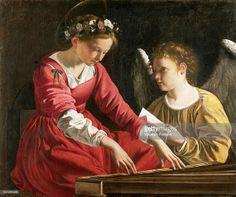 Orazio Gentileschi, Artemisia Gentileschi, Santa Cecilia, Catholic, Saints, Portrait, Vintage, Instagram, Paintings