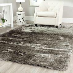 Silken Silver Shag Rug (11' x 15')   Overstock.com Shopping - The Best Deals on Oversized Rugs