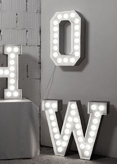 Big letter with lamps via Lotta Agaton Shop. Click on the image to see more!