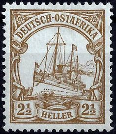 German East Africa 2.5 Heller c1900
