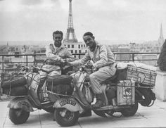 African Tour in Lambretta *The Camouflage Brothers reference Lambretta Scooter, Scooter Motorcycle, Vespa Scooters, Motorcycle Adventure, Piaggio Vespa, Foto Picture, Vintage Motorcycles, Cycling Bikes, Cool Bikes