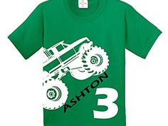 Monster Truck Birthday Shirt by CRAAUS on Etsy