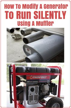 How To Modify Your Generator To Run Silently With A Muffler - How to Tutorials Diy Urban Survival, Homestead Survival, Camping Survival, Survival Prepping, Emergency Preparedness, Survival Skills, Survival Gear, Survival Hacks, Survival Supplies