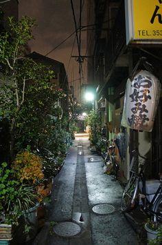 月島 Photo by UENO Takeshi 上野タケシ Japanese Landscape, Japanese Streets, Vanishing Point, Grain Of Sand, Alleyway, Mount Fuji, Buddhist Temple, Night City, Japanese Beauty