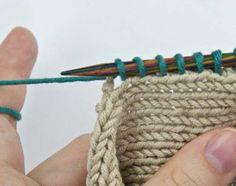 Stricken Maschen aus Seitenrand aufnehmen 4