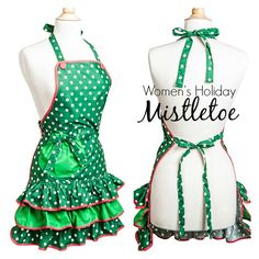 It's Christmas in March here at Flirty Aprons! Cute, vintage Holiday Aprons for women. www.flirtyaprons.com