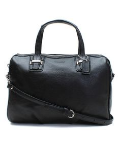 Look at this #zulilyfind! Black Taylor Leather Crossbody Bag by Coach #zulilyfinds