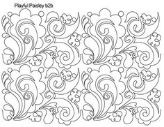 playful paisley could be used as a negative space word background