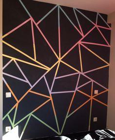 Pintar pared <3 triángulos diy