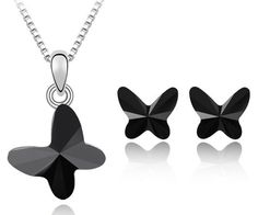 l  set -Butterfly kisses necklace,earrings jewelry set