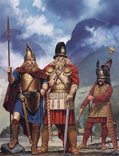Celts on shore of Lake Hallstatt, second half of 6th century BC