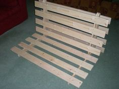 How to make a fold out futon bedframe