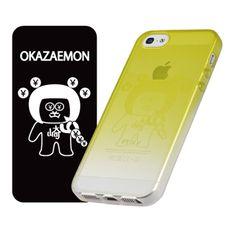 【【iPhone5s/5 ケース】「染-SO・ME-」オカザえもん 黄】レーザーマーキングを使用して、iPhone5s/5 本体のデザ…