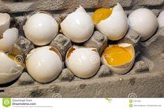 cracked eggs | Cracked Eggs Stock Image - Image: 27812051