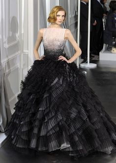 A model wears a design by Christian Dior's acting creative director Bill Gaytten at the spring/summer 2012 couture show. - Fashion Galleries - Telegraph