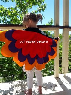 Wings bird bat and fairy  PDF sewing pattern by teapotandsnail, $8.00