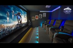 ironman s ironman s by Tony West 2009 Home Theater Room Design, Movie Theater Rooms, Home Cinema Room, Home Theater Decor, Home Theater Seating, Theatre Rooms, Home Theatre, Small Home Theaters, Man Cave Home Bar