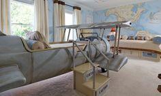 Ekstravagntna soba za dečake inspirisana avijacijom | BravaCasa Magazin