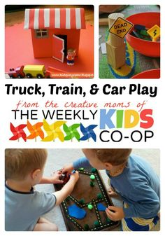 Fun Ways to Play Trucks, Trains, and Cars + Link Party - #kids #parenting #kbn #binspiredmama