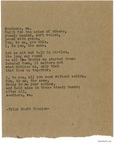 Typewriter Series #2041 by Tyler Knott Gregson