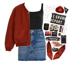 """""""Handcrafted"""" by ritaflagy ❤ liked on Polyvore featuring Norma Kamali, Topshop, Dolce&Gabbana, Monki, Clare V., Maison Bereto, NARS Cosmetics, Lipstick Queen, Etude House and Design Letters"""