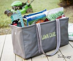 Your lawn care supplies are no match for our Large Utility Tote. Father's Day Gift Thirty-One My Thirty One, Thirty One Bags, Thirty One Gifts, 31 Gifts, Fathers Day Gifts, Lawn Care Business Cards, Large Utility Tote, Thirty One Business, Thirty One Consultant