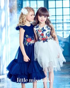 A dream gowns and so romantic. Every little princess should be privileged to own one of these amazing dresses. We adore Mischka Aoki brand, every dress is a Masterpiece of flowers Kids Winter Fashion, Black Kids Fashion, Winter Kids, Summer Kids, Little Girl Dresses, Girls Dresses, Flower Girl Dresses, Flower Girls, Vintage Kids Fashion
