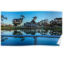 Reflections at the Lake Weeroona Boardwalk Poster