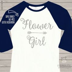 glitter wedding shirt, sparkly flower girl, raglan shirt
