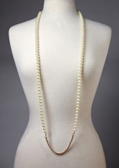 On ideel.com only 19 Hours left to buy at this price! Looks better doubled! LOLITA Contemporary Pearl Necklace with Chain Detail