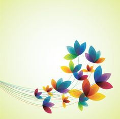 FLOWERS / Free vector Vector flower Spring flowers