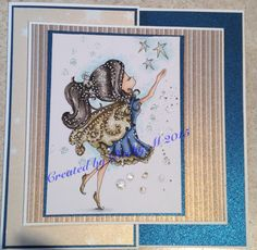 Tiddly Inks Fairy Fae. Joy fold card