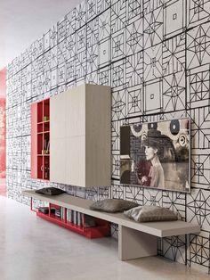 Linear #kitchen with integrated handles ORANGE EVOLUTION by @snaiderocucine