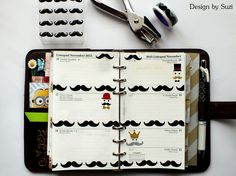 The week nr.47 - Moustaches #planner