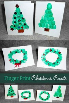15 DIY Christmas Cards Kids Can Make; a collection of 15 amazing yet simple Christmas Card Craft ideas for kids from toddler to teen! Christmas Card Crafts, Homemade Christmas Cards, Preschool Christmas, Handmade Christmas, Christmas Fun, Holiday Crafts, Christmas Cards From Kids, Homemade Ornaments, Hand Print Christmas Cards
