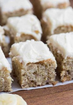 WOW these banana bread bars are AMAZING! My family loves them and they're perfect for using up over-ripe bananas. | tastesbetterfromscratch.com