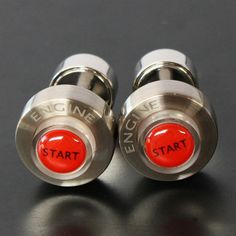 Light with engine starter cuffs (cufflinks)