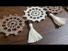 Crochet Flower Patterns, Crochet Mandala, Filet Crochet, Crochet Doilies, Knitting Patterns Free, Crochet Flowers, Crochet Towel, Knitting Books, Heart Crafts