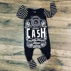 Baby romper handmade baby bodysuit baby bodysuit custom baby gift trendy toddler clothes country music t shirt romper baby - Baby Bodysuit - Ideas of Baby Bodysuit - Johnny Cash baby romper handmade baby bodysuit baby Trendy Baby Clothes, Organic Baby Clothes, Baby Clothes Shops, Country Baby Clothes, Handmade Baby Clothes, Newborn Boy Clothes, Style Clothes, Toddler Outfits, Baby Boy Outfits