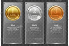 Sports or business vector infographics with winners award medals. Business Infographic