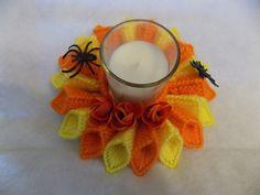 sostenedor de vela de naranja amarillo / por cpt4morgan en Etsy