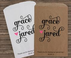 Wedding Favors Wedding Favor Bags Candy Bar Bags by StampsJubilee