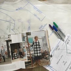 Now I have a stack of pattern pieces from a very lovely book. I traced out 3 of them..but options for 9 different outfit choices at least! I'm excited to get started! #lottaeverydaystyle #lottajansdotter