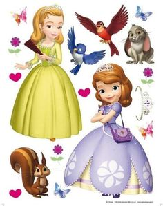 Centre de table princesse sofia annikids disney pixar for Decorazioni autoadesive