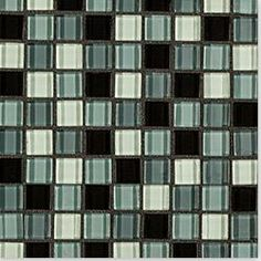 BuildDirect®: Cabot Mosaic Tile - Crystalized Glass Blend Series  Looks much greyer on a bathroom wall