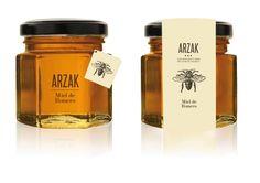 Arzak Honey #honey #packaging #jar #design #identity #logo