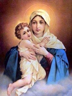 La virgen María y niño Jesús .