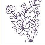 MAGYAR MINTÁK Hungarian Embroidery, Folk Embroidery, Types Of Embroidery, Embroidery Stitches, Embroidery Patterns, Floral Embroidery, Bordado Popular, Pattern And Decoration, Crochet Hook Set
