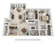 Lenox- -2 Bedroom Floor Plans | Park Valley